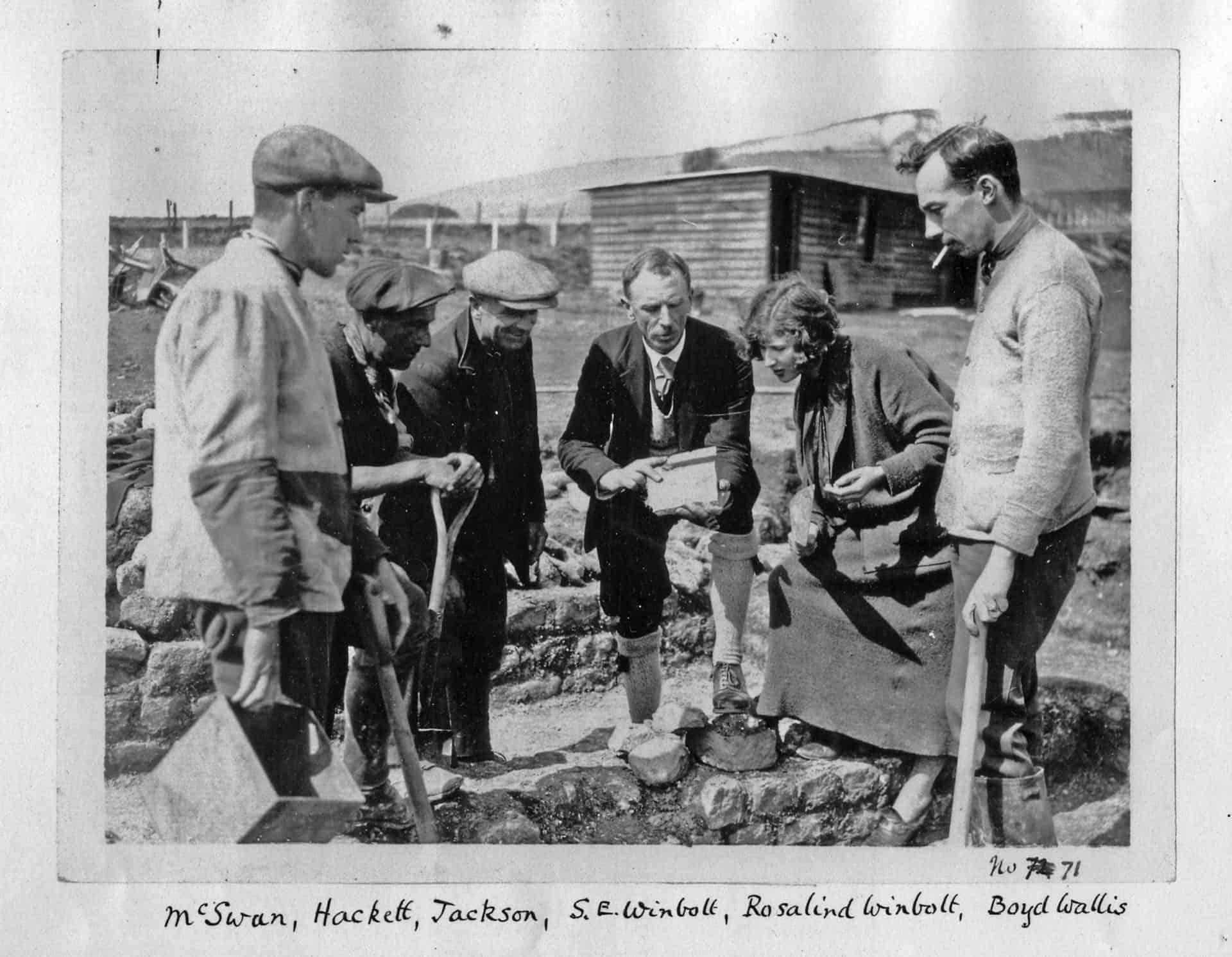 Romans 0b Samuel Wimbolt and his team at Folkestone Roman Villa in 1924