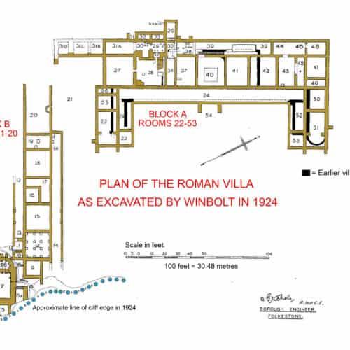 Romans 1b Plan of Roman Villa 1924
