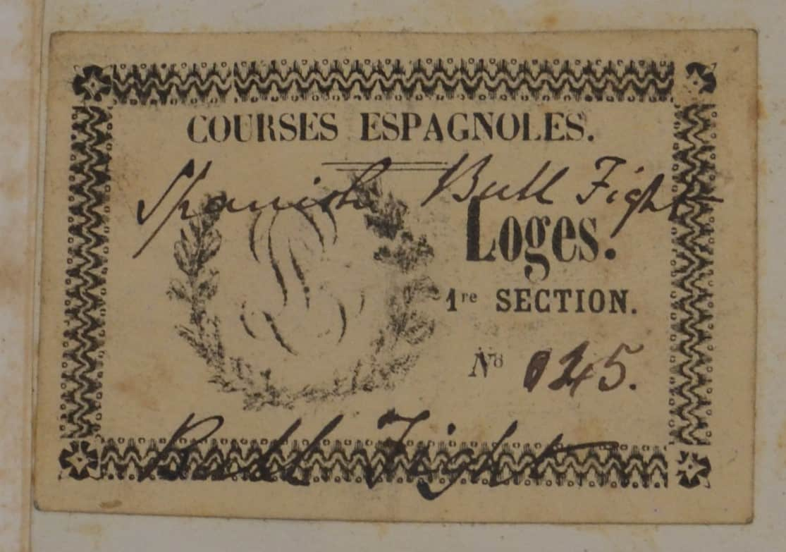 Masters 1u DSC_0880 Bullfight ticket
