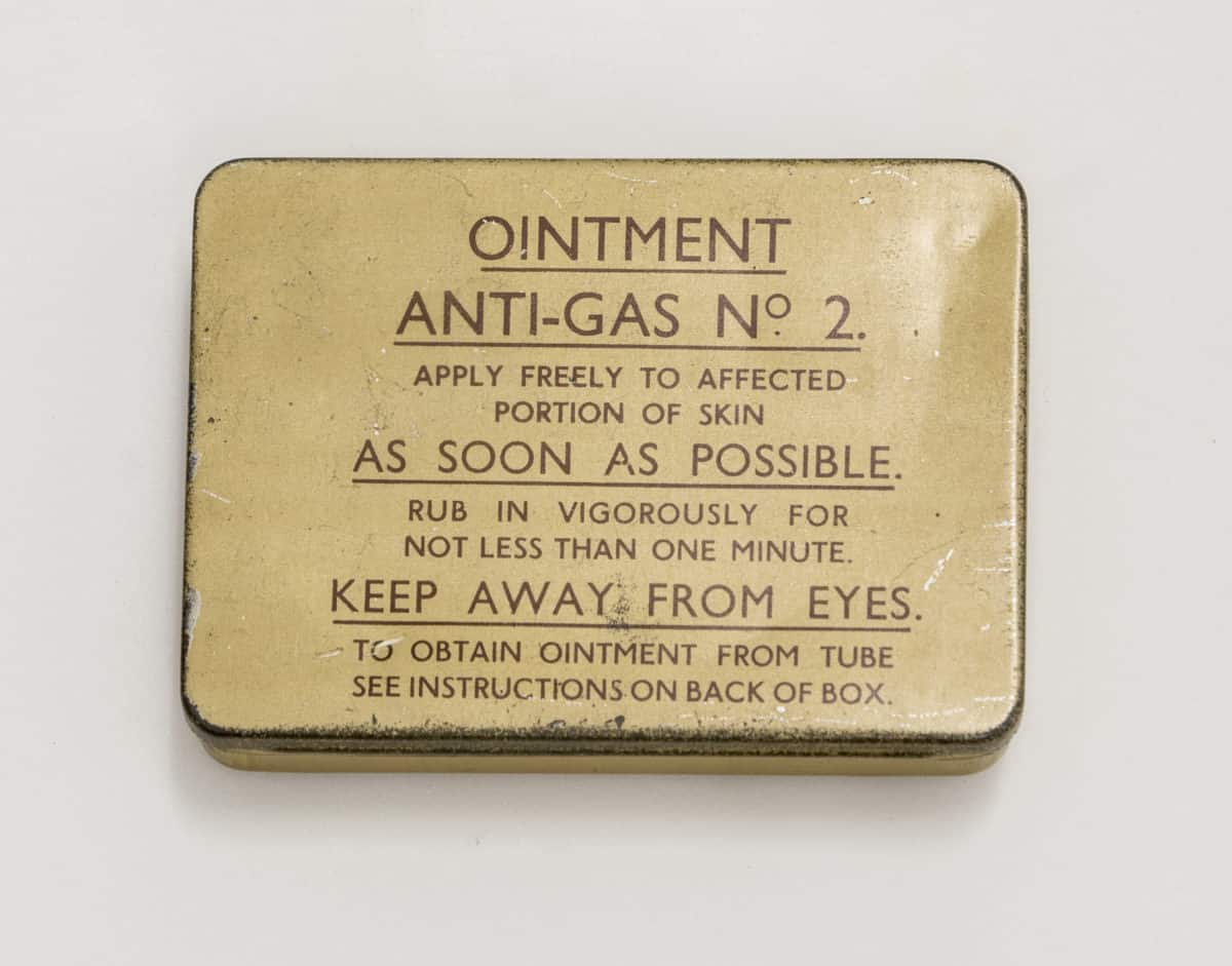 Anti Gas Ointment tin exterior - click to see inside