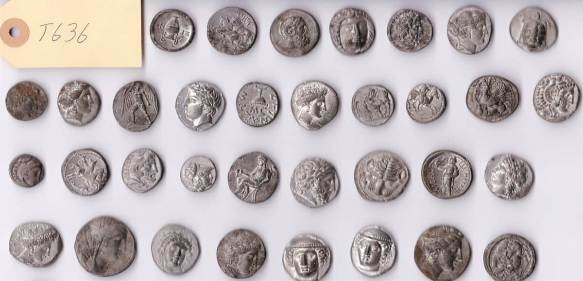 Cabinets 9a Ancient Greek coins obverse CC Drawer 3 pagelast s1
