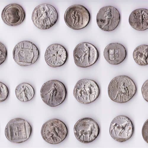 Cabinets 9b Ancient Greek coins reverse CC Drawer 3 pagelast s2