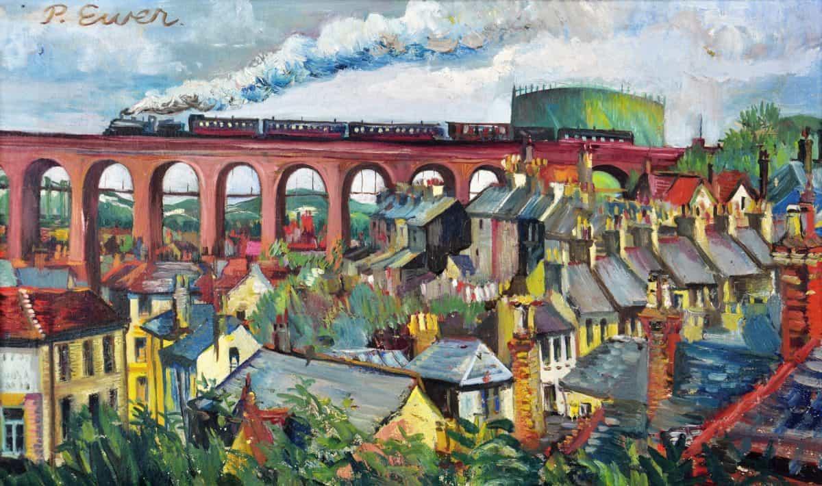 F5962 Viaduct Folkestone. Artist P Ewer (2)