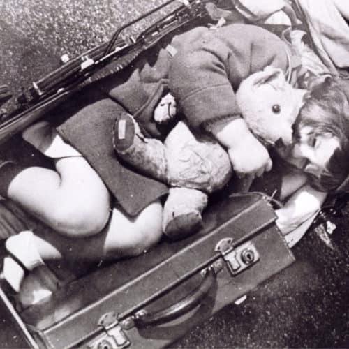 WW2 9 Evacuee -In the pram with Teddy
