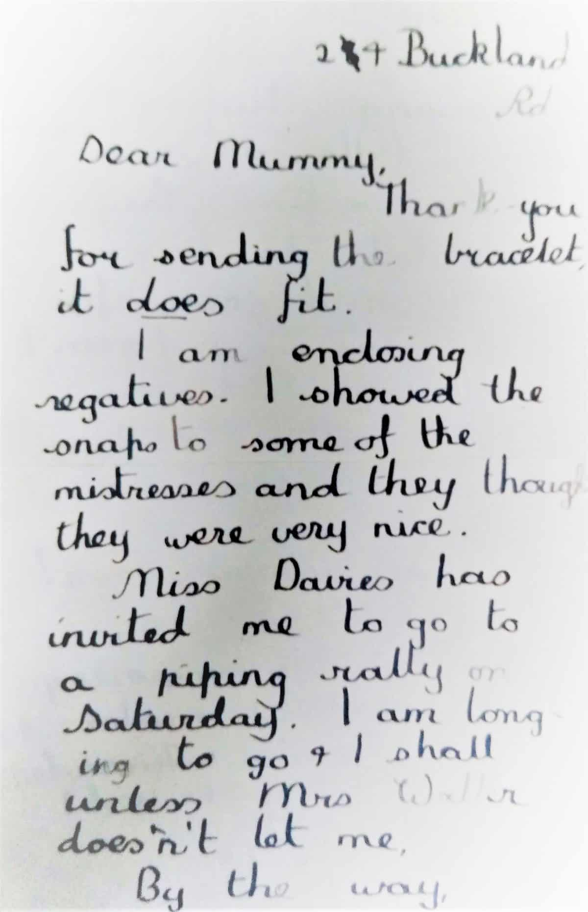 WW2 9 Evacuee letter Page 1 (cropped)