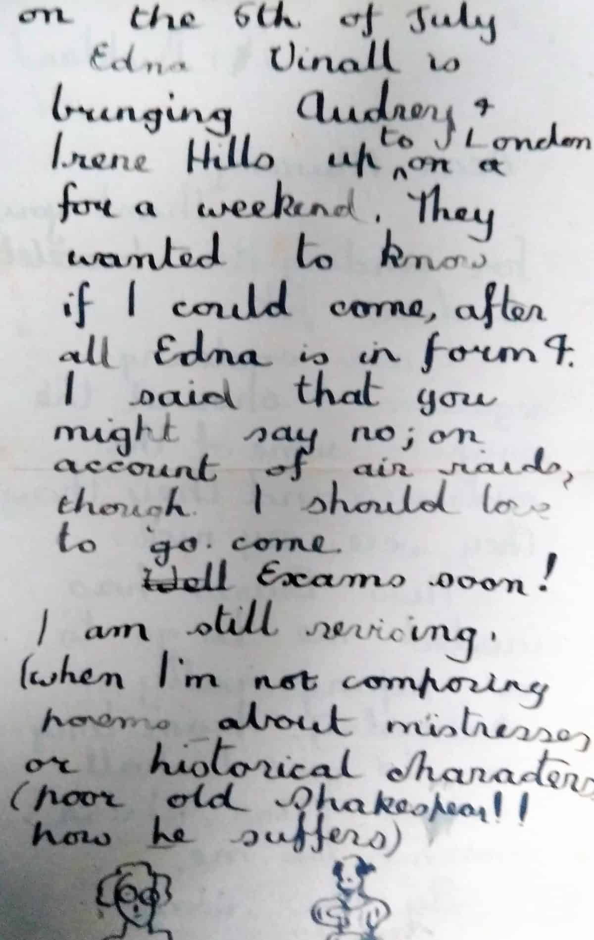 WW2 9 Evacuee letter Page 2 (cropped)