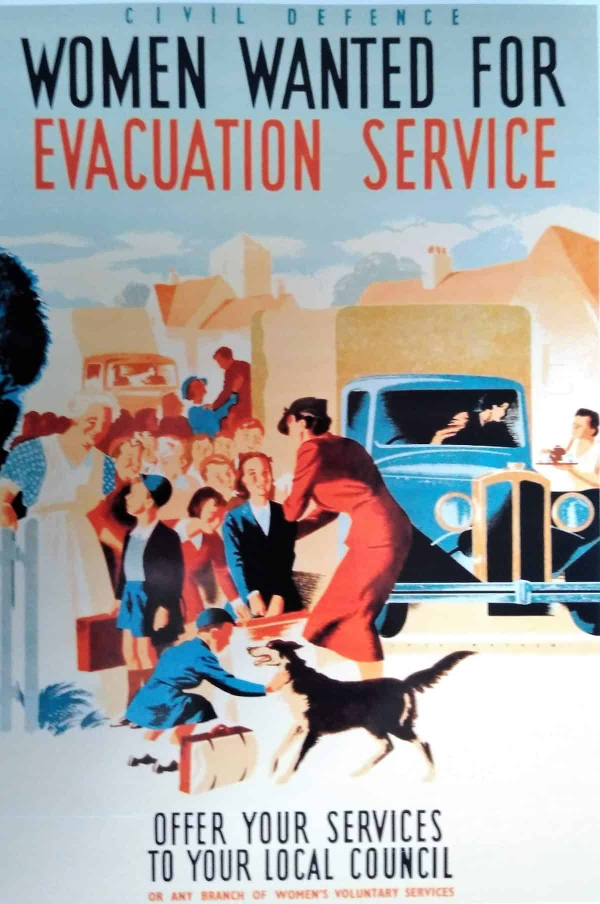WW2 9 Women Wanted for Evacuation Service poster (cropped)