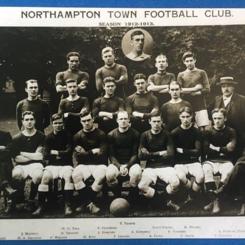 WW1 13 Northampton Town team photo 1912-13 season - Walter Tull back row on extreme left