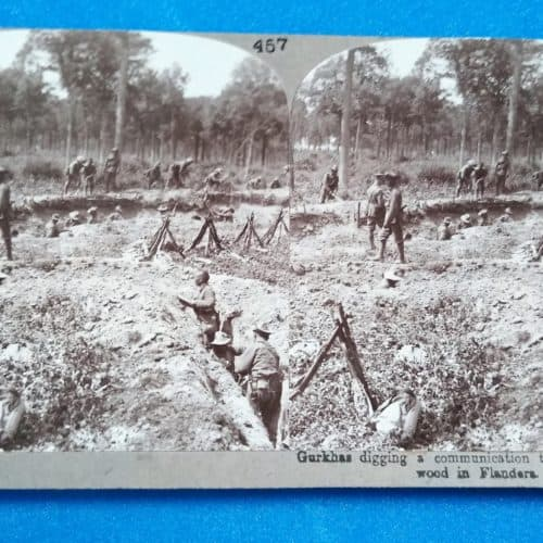WW1 15 Gurkhas - digging a communication trench in Flanders