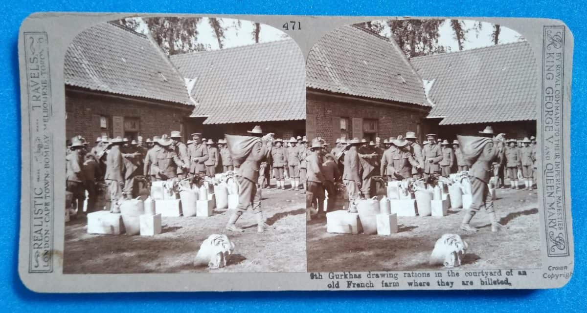 WW1 15 Gurkhas - drawing rations