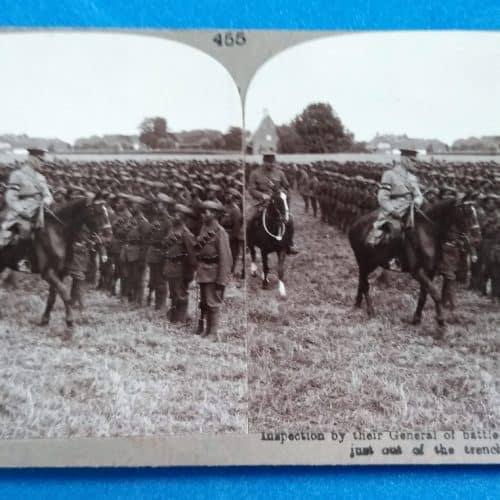 WW1 15 Gurkhas - inspection of battle-scarred Gurkhas
