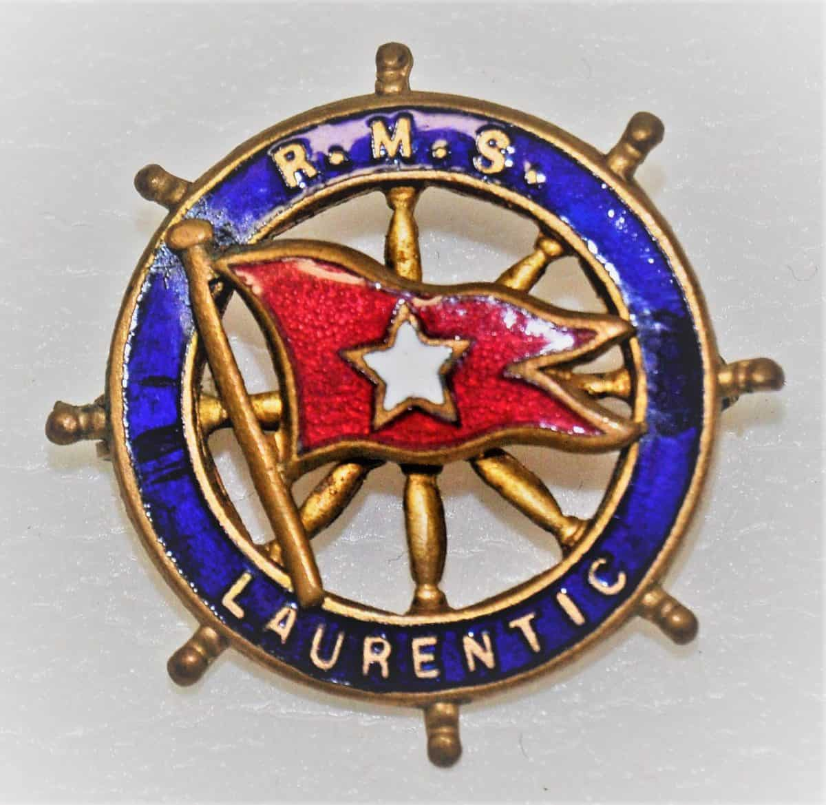WW1 7 F5886_FTC_Badge_RMS_Laurentic_White_Star_Line_FCC