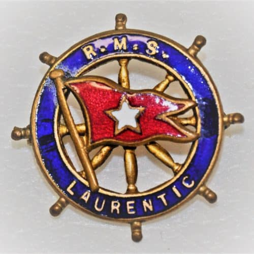 WW1 7 F5886_FTC_Badge_RMS_Laurentic_White_Star_Line_FCC