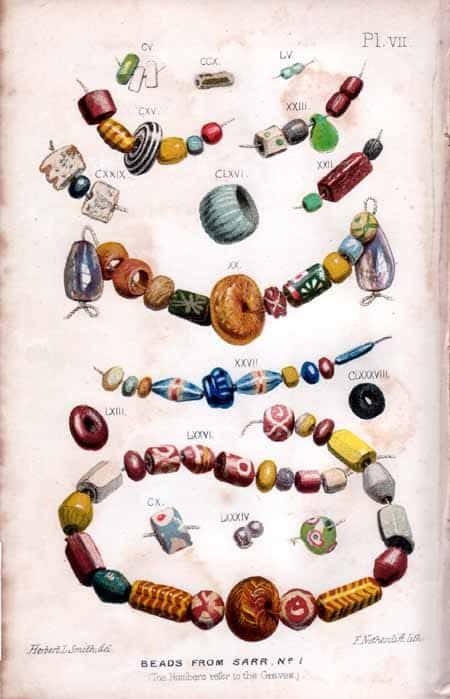 Anglo-Saxons Resources Anglo-Saxon beads from Sarre No 1