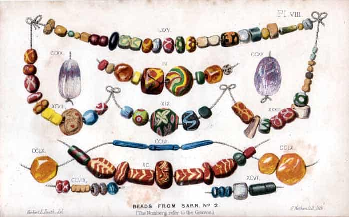Anglo-Saxons Resources Anglo-Saxon beads from Sarre No 2