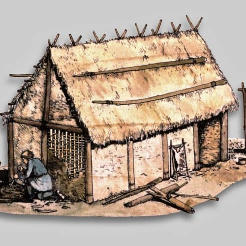Anglo-Saxons Resources Anglo-Saxon hut reconstruction