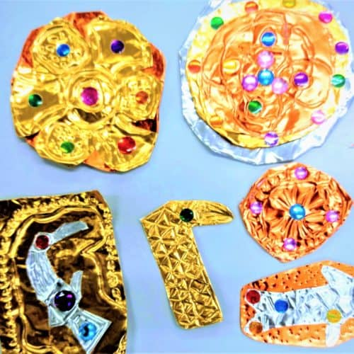 Anglo-Saxons Resources Craft foil Anglo-Saxon brooches