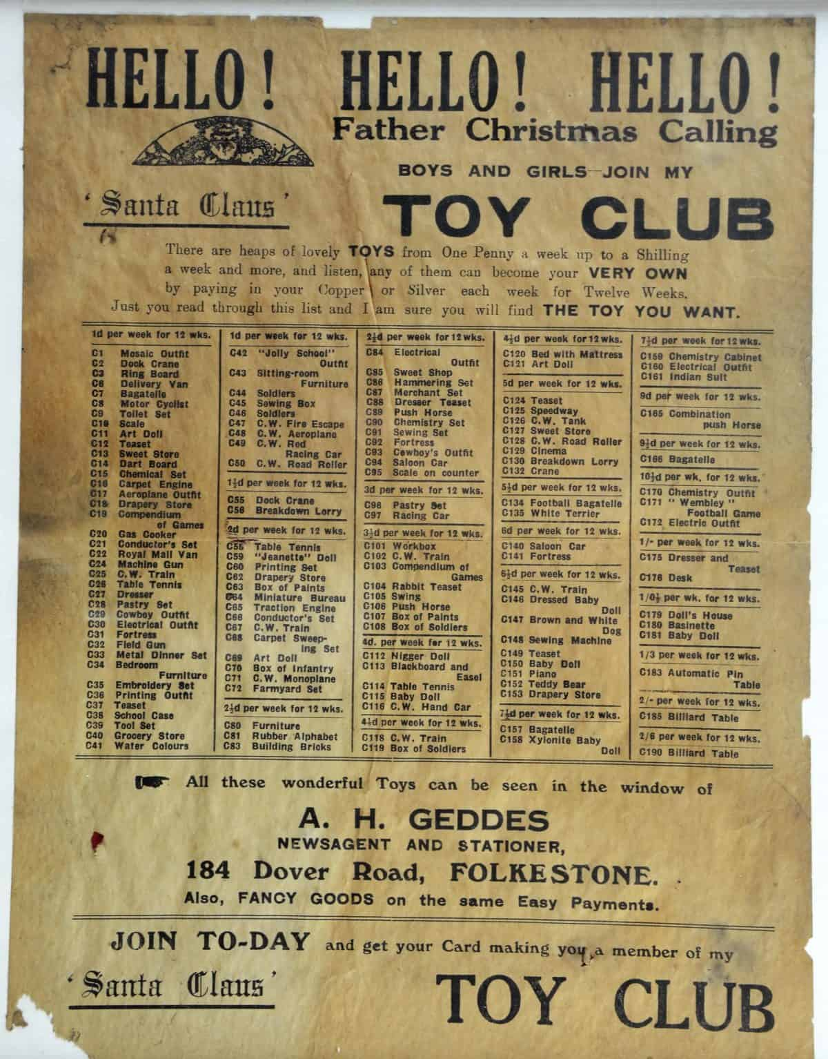Cabinets of Curiosity 18b Santa Claus' Toy Club poster