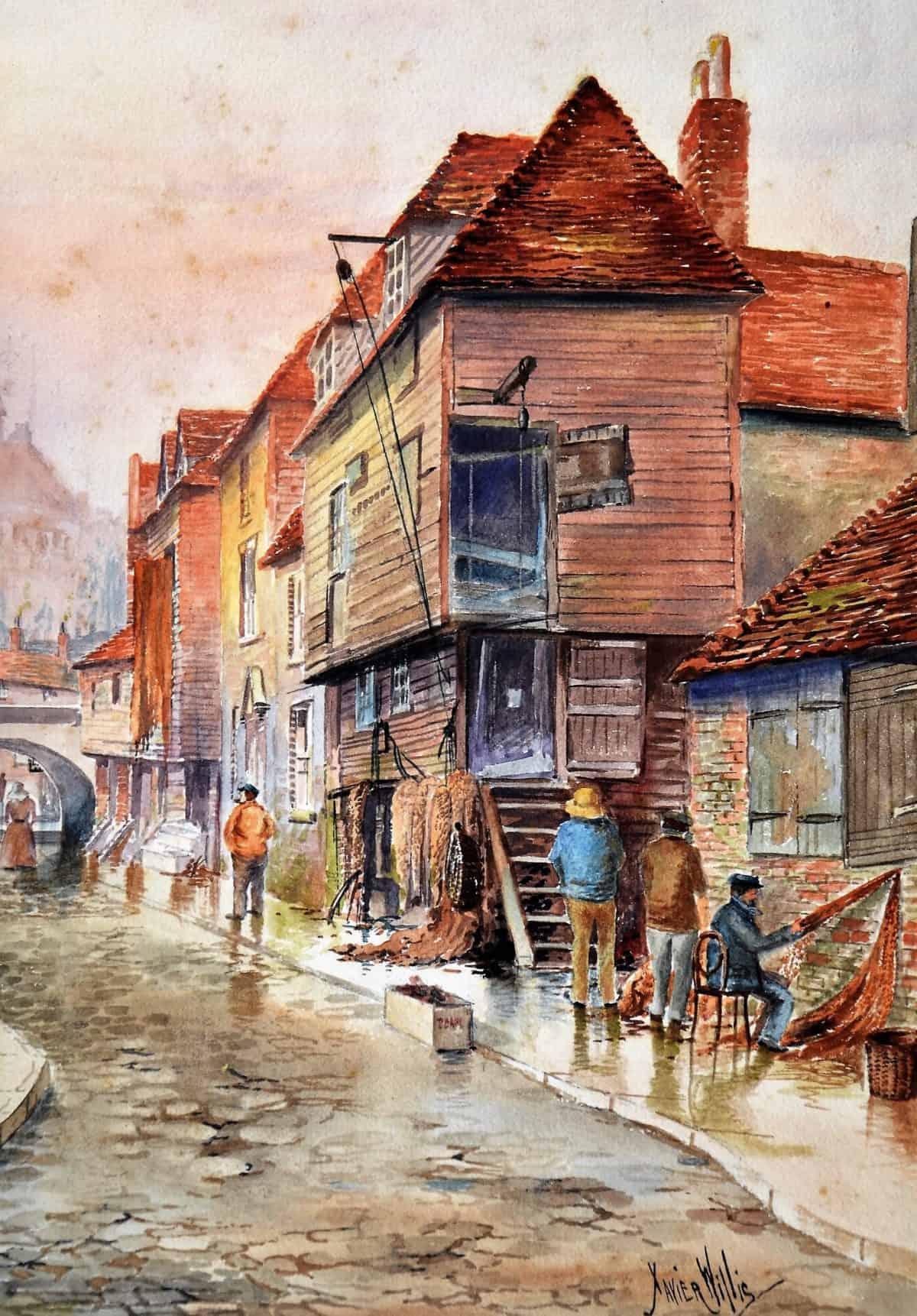 Maritime 4 Box Art 2 F3819 (2) Old Town Folkestone. Artist Xavier Willis