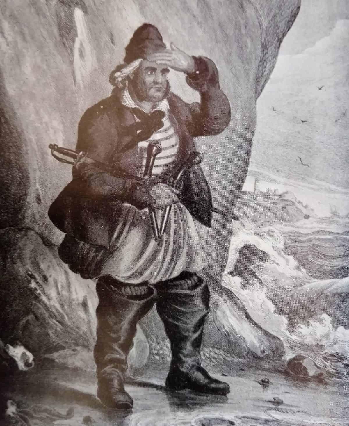 Maritime 5 Reminiscences of Old Folkestone Smugglers - smuggler illustration