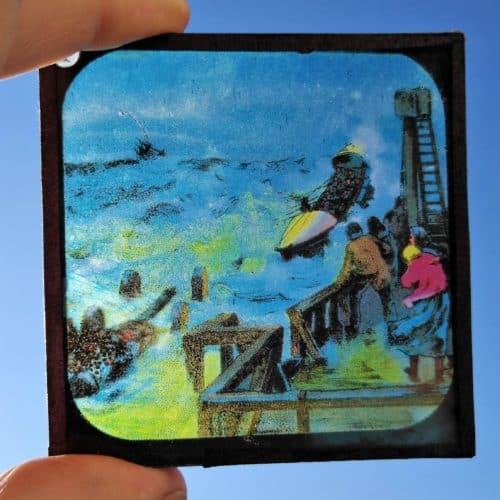 Maritime 7 Victorian lifeboat rescue magic lantern slide 1