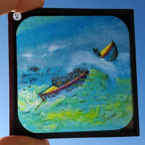 Maritime 7 Victorian lifeboat rescue magic lantern slide 2