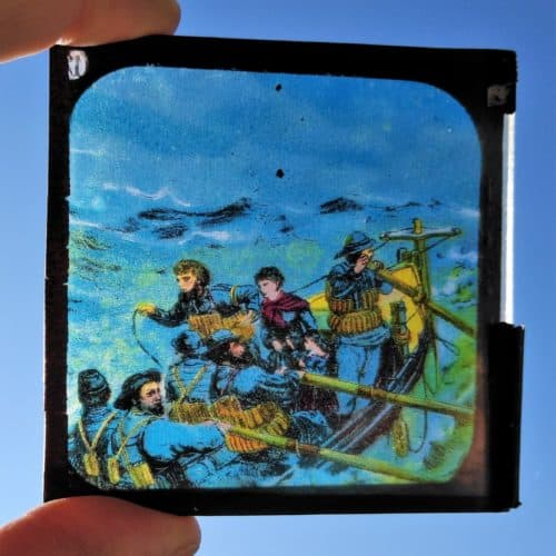 Maritime 7 Victorian lifeboat rescue magic lantern slide 3
