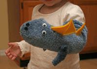 Rocks Resources Dinosaur sock puppet