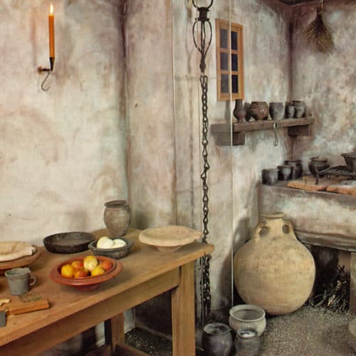 Romans 15 .Roman kitchen reconstruction