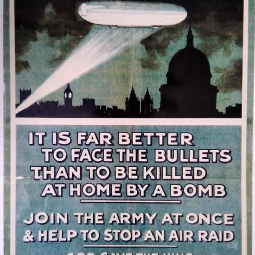 WW1 16 join the Army - Zeppelin poster