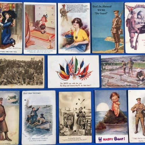 WW1 17 postcards front