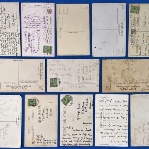 WW1 17 postcards reverse