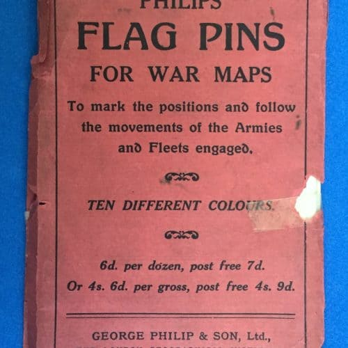 WW1 3 Daily Mail war map back cover