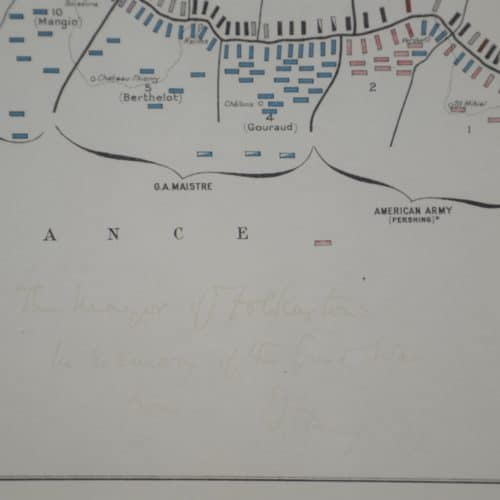WW1 4 Art Store H2 F3909 Map of the Western front, signed by Field MArshal Douglas Haig 1974. (3)