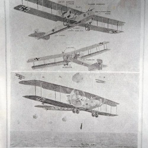 WW1 5 Gotha bomber article from The War Illustrated