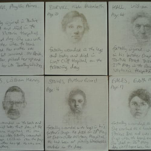 WW1 5 Roy Eastland's drawings and pen portraits of the victims