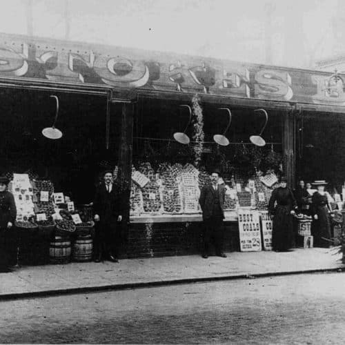 WW1 5 Stokes Greengrocers before the air raid