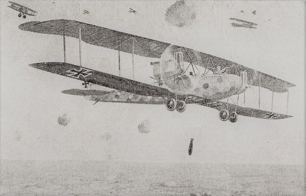 WW1 Resources Gotha bomber article from The War Illustrated cropped