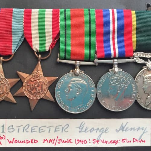 WW2 10 George Henry Streeter medals