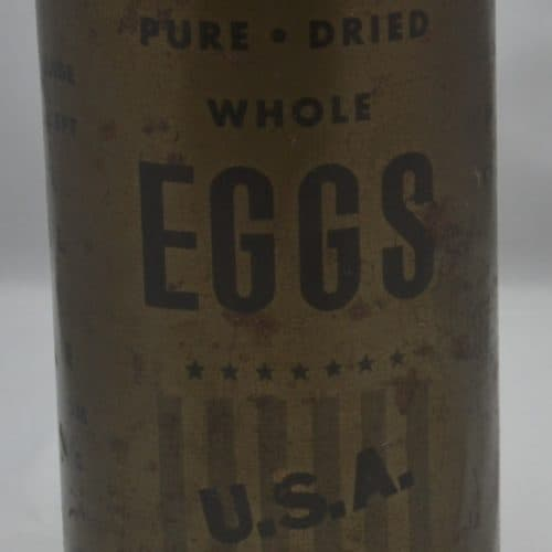 WW2 18 F3793 Tins of dired egg USA