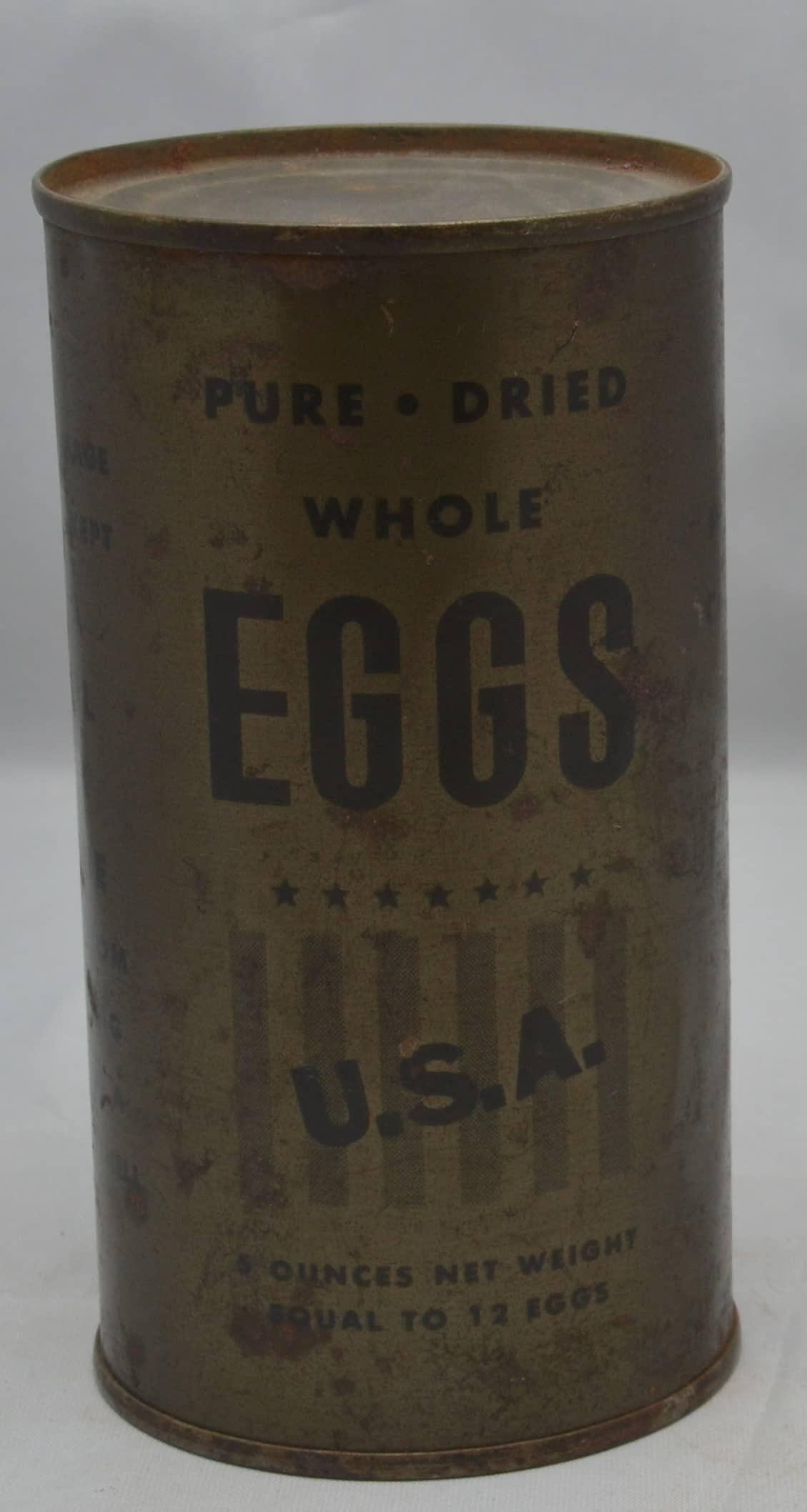 WW2 18 F3793 Tins of dired egg USA