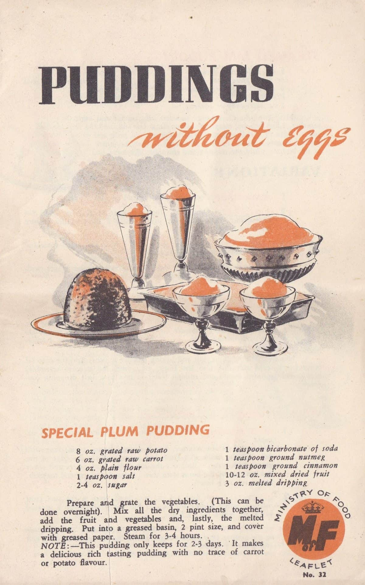 WW2 18 F5998.01 Puddings without Eggs