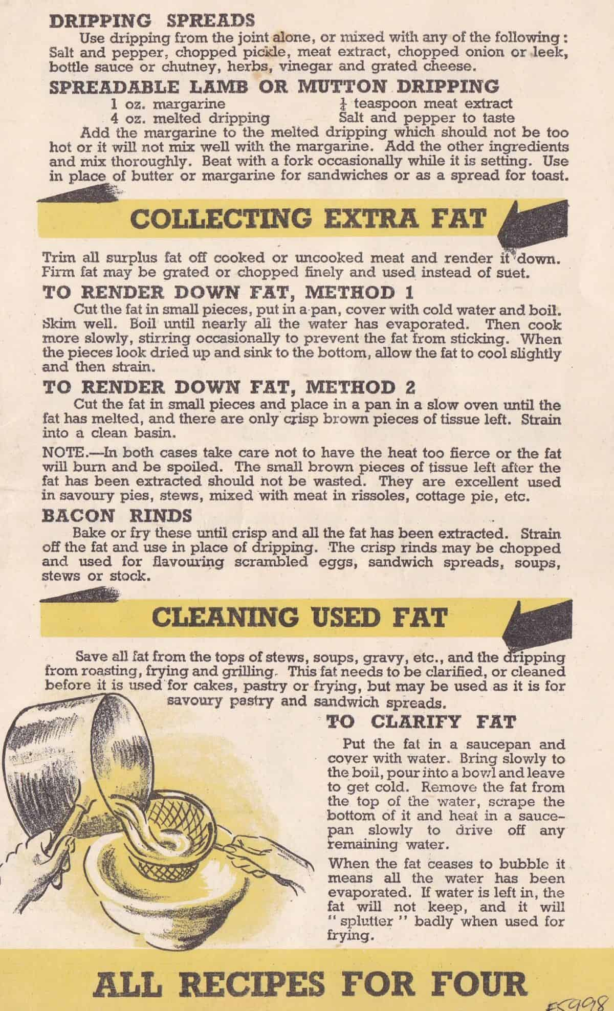 WW2 18 F5998.03 Making the most of the Fat Ration Leaflets