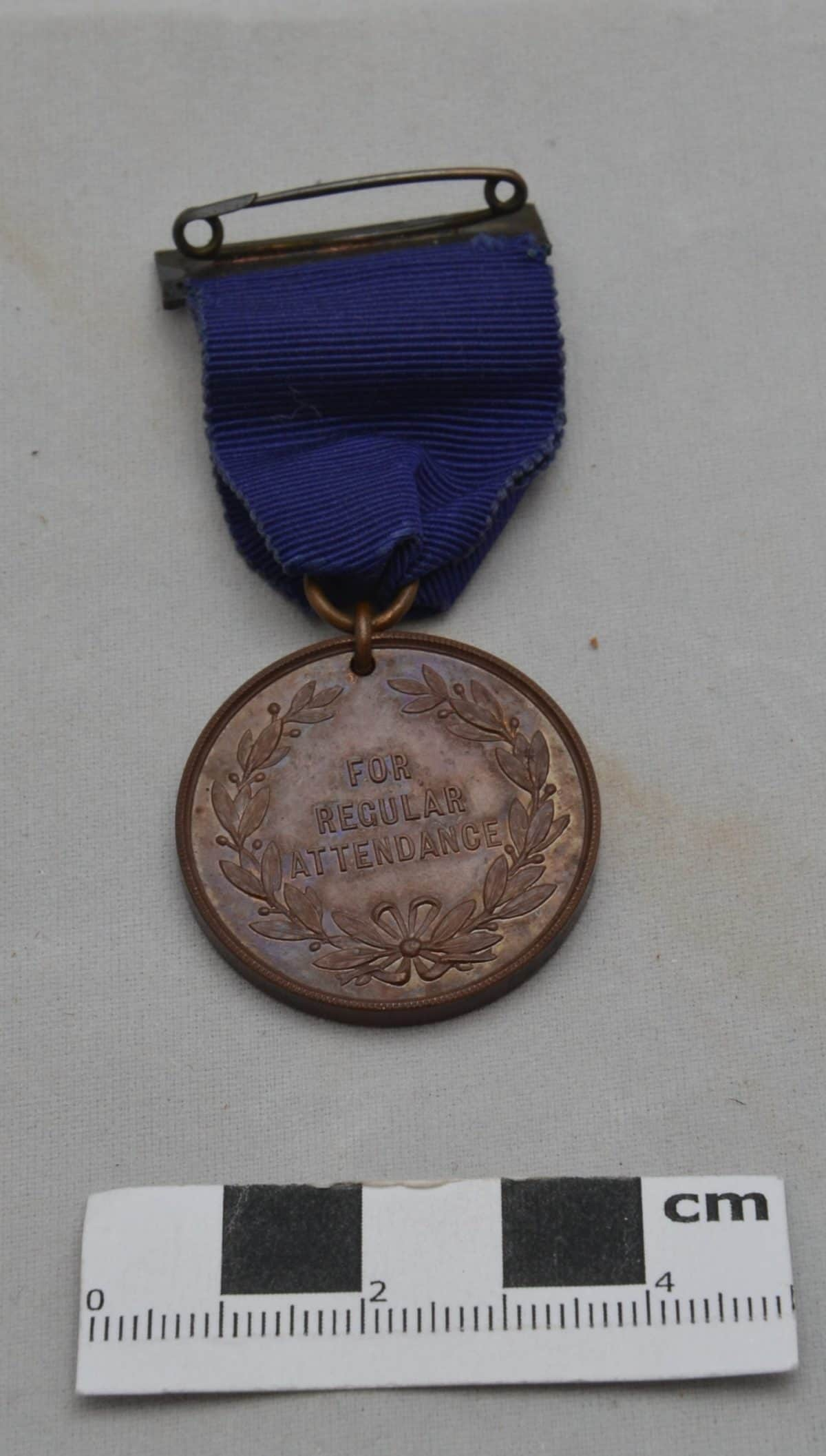 WW2 6 F2639 School Medal For Regular Attendance . Folkestone Borough