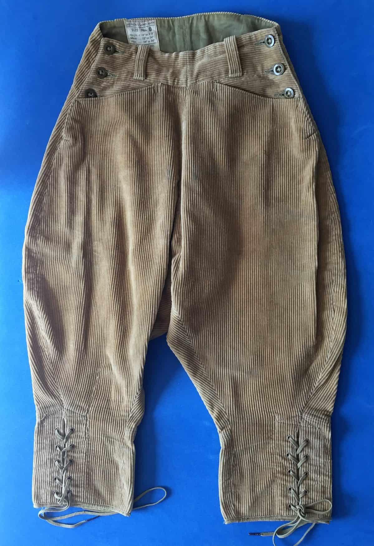 Women's Land Army - corduroy breeches
