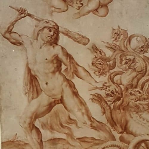 Master 13 57 - SIRANI, Giovanni Andrea - Hercules Slaying the Hydra