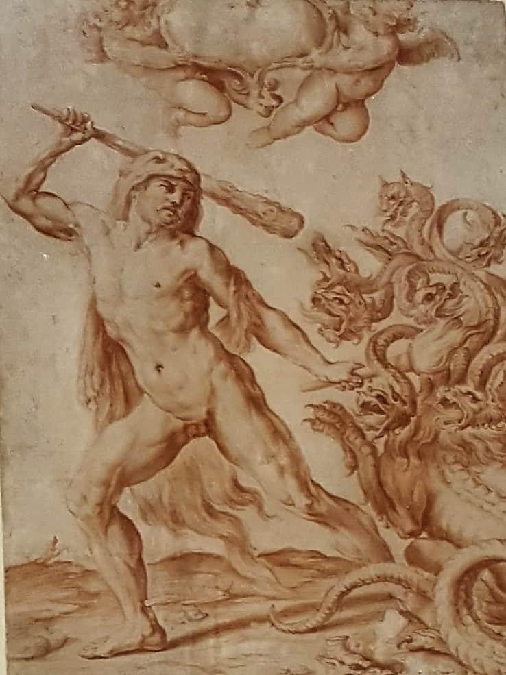 Master 13 57 - SIRANI, Giovanni Andrea - Hercules Slaying the Hydra
