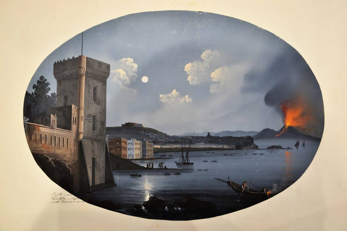 Master 18d On the Road to Posilipo. Naples with Vesuvius in 1868