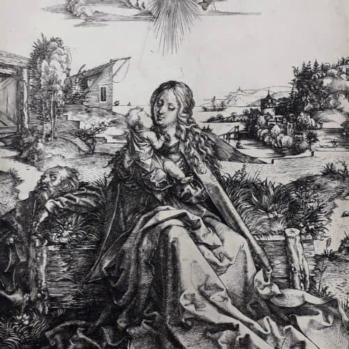 Master 2 174 - DURER, Albrecht - Holy Family with Dragonfly