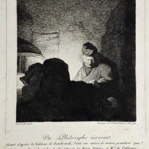 Master 21 NO NUMBER - LE BRUN, J.B.P. (artrist Rembrandt) - Un Philosophe Scrivant
